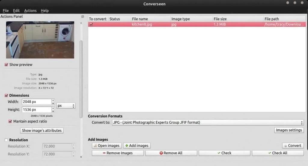 Converseen Image Converter