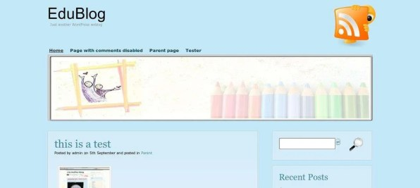 The main page