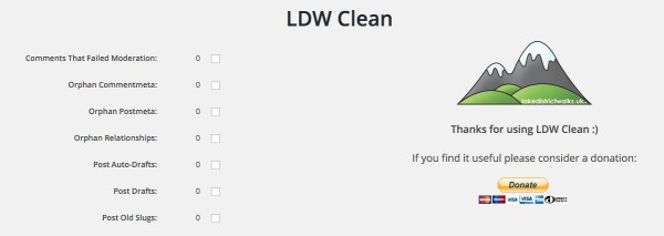 LDW Clean WordPress Dashboard Screenshot