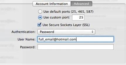 SMTP Port Settings