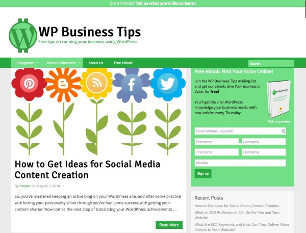 WP Business Tips