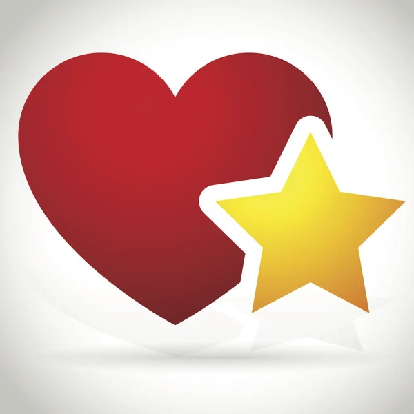 Heart Star Vector- Facebook