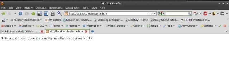 Web Server Test Page