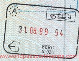 Austria - exit stamp, 1999
