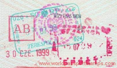 Belarus - business visa AB, 1999