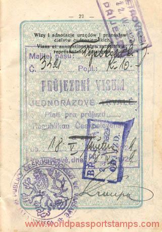 travels to Czechoslovakia