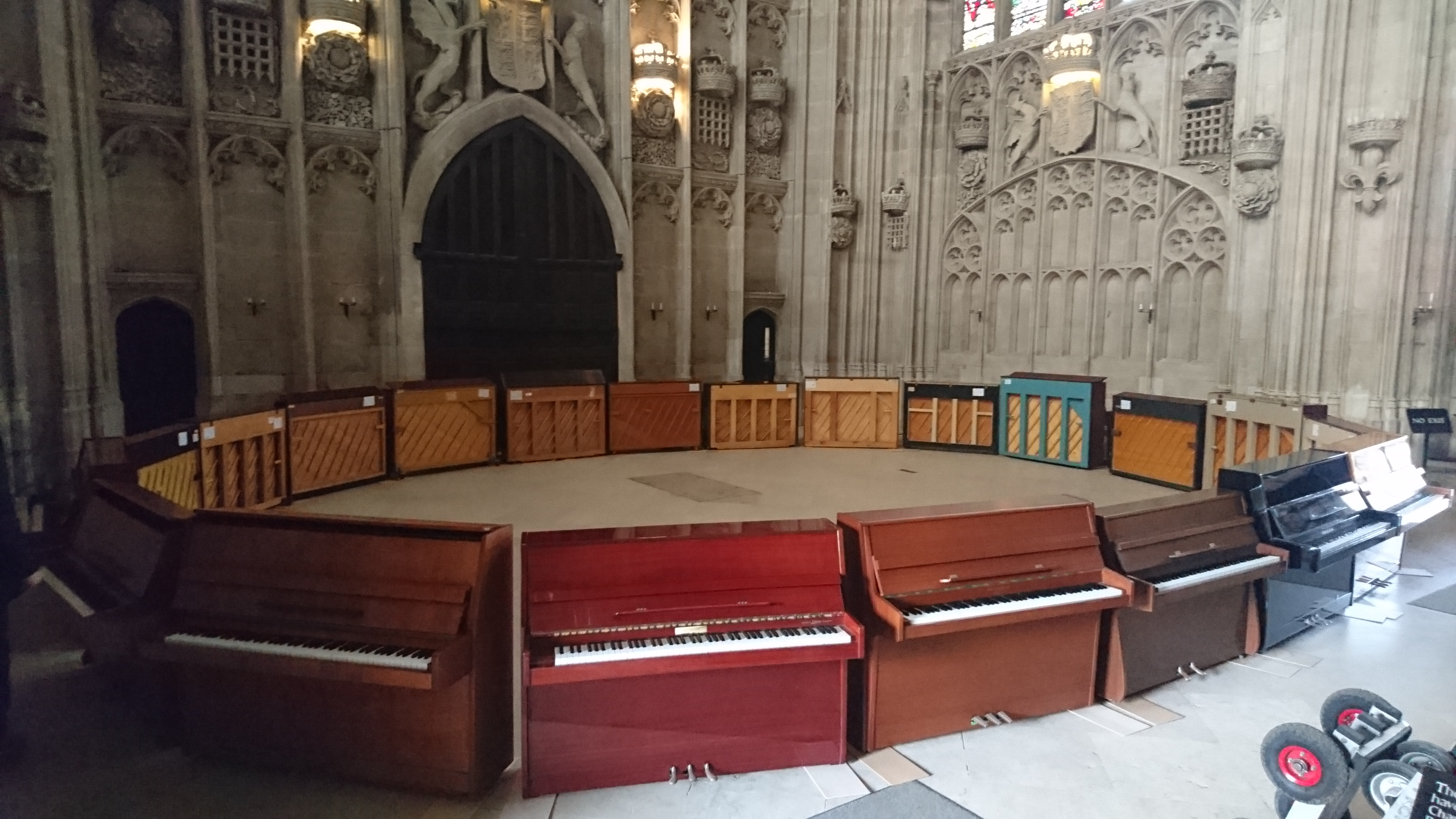 21 Piano Giveaway after Concert at King's College Cambridge