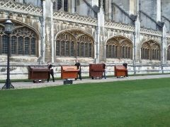 Pianos at King's College Cambridge