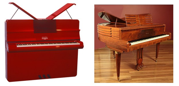 butterfly upright and grand pianos