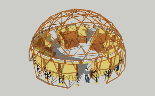 Illustration showing the Pianodome