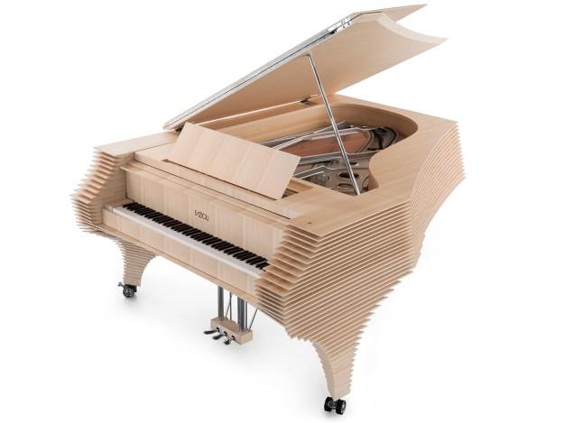 The Kengo Kuma Fazioli grand piano