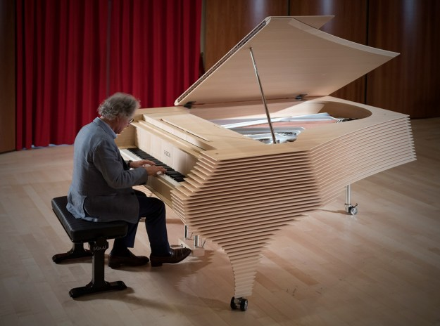 Paolo Fazioli playing the Kengo Kuma Fazioli
