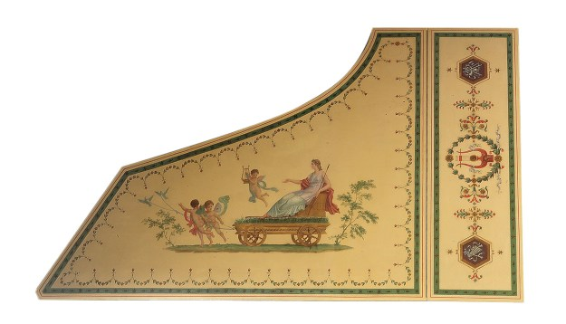 The piano's lid