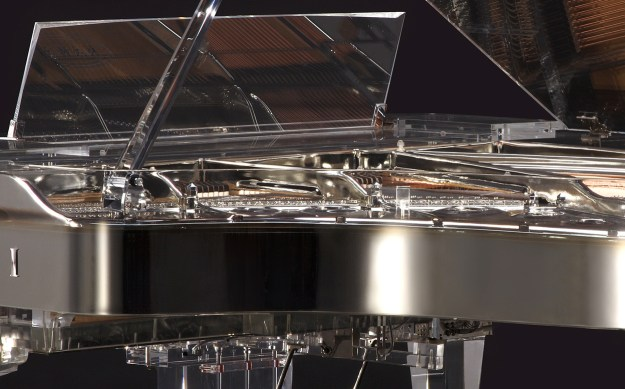 Close-up of Kawai Crystal Grand