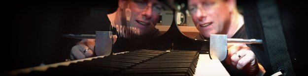 Image showing a Bechstein engineer sampling the D 282 grand piano