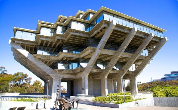 The University of California San Diego's Geisel Library