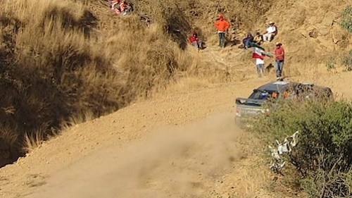 Darkcyd Racing Robb Rill and Ben Slocum powering up Duarte Stage at WRC Rally Mexico 2011