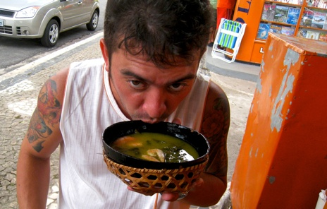 Andre Drinking Soup