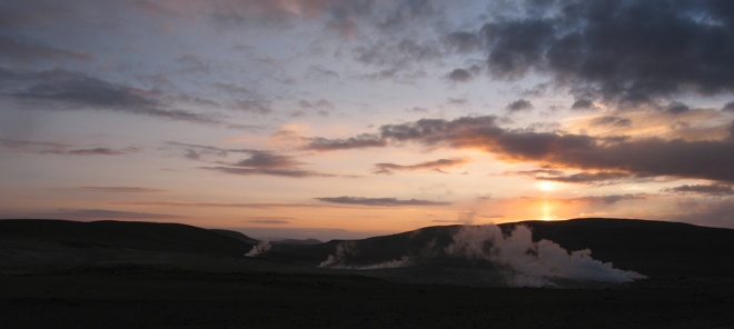 Bolivian Sunrise Geysers