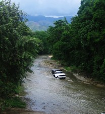 Colombia-Driving Riverbed