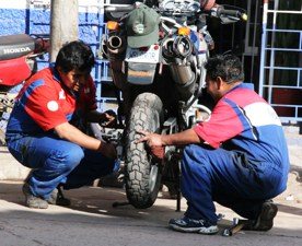Cusco Tire Change