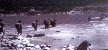 Guevara Troops Cross Rio Grande
