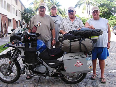 Rick Timmins and his three brothers in Baja, California La Paz