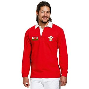 Vintage Mens Wales Polo Shirt Welsh Rugby
