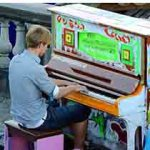 Street piano in Stockholm