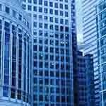Blue building architecture