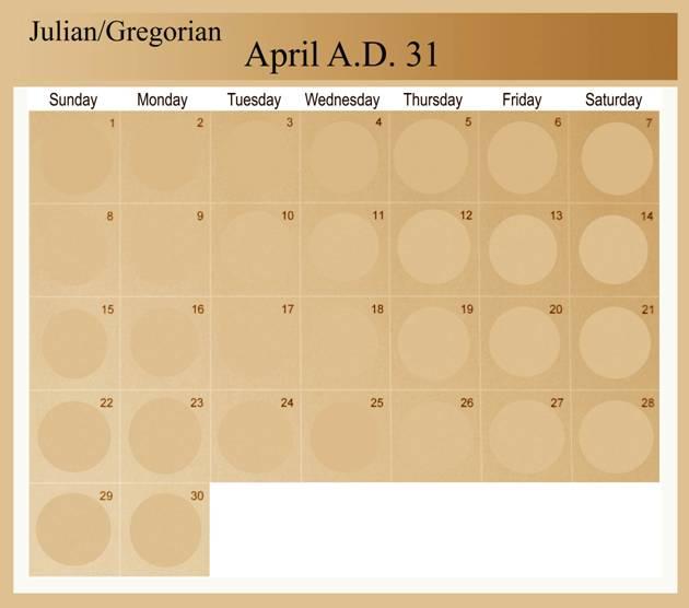 Wfuip just another wordpress site crucifixion date gregorian calendar april 31 ad fandeluxe Choice Image