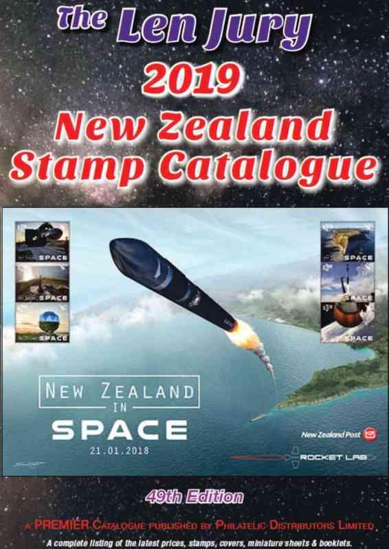 The Len Jury 2019 New Zealand Stamp Catalogue