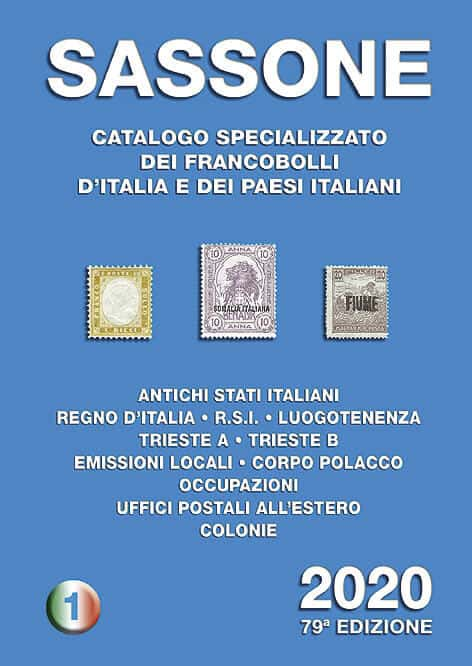 Sassone – Specialized catalog of stamps of Italy 2020 – Volume 1
