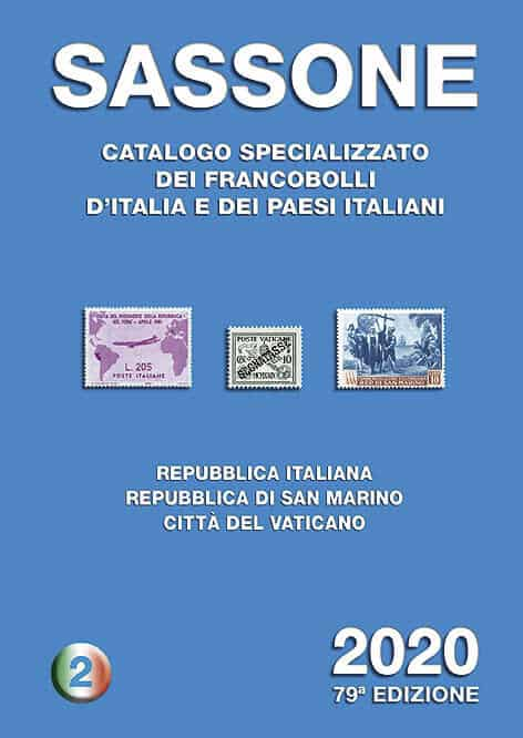 Sassone – Specialized catalog of stamps of Italy and Italian countries 2020 – Volume 2