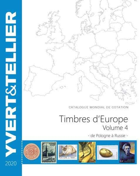 Yvert&Tellier Catalog for quotation of European Stamps Volume 4 – 2020 – from Poland to Russia