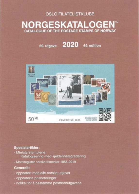 Catalogue of the Postage Stamps of Norway 2020