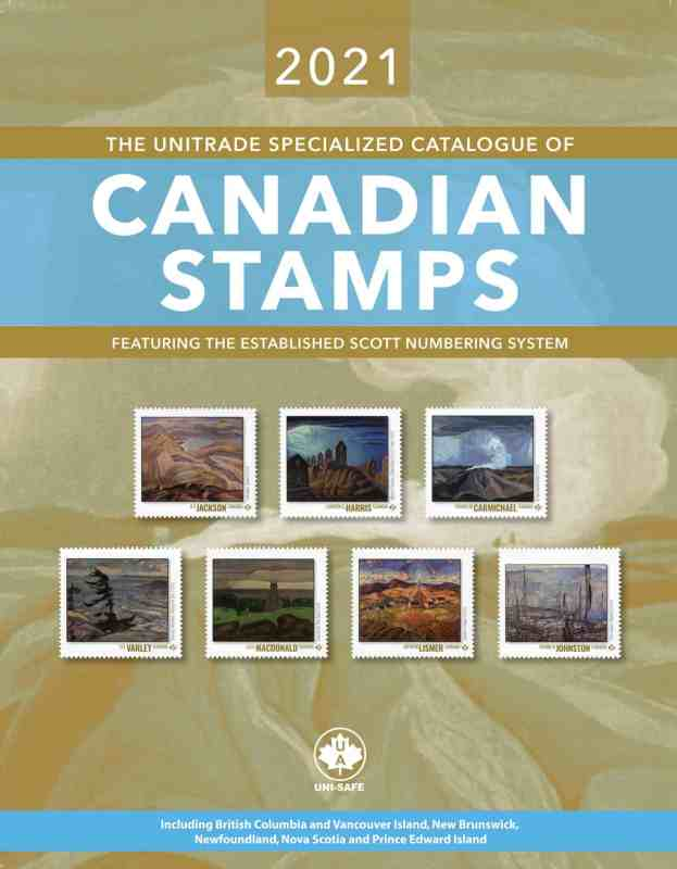The 2021 Unitrade Specialized Catalogue of Canadian Stamps