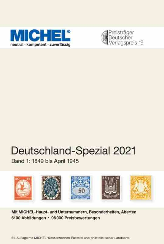 Michel Germany Specialized 2021 – Volume 1 (1849–April 1945)