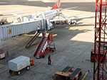 Unloading Brazilian cargo plane