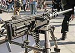 Machine gun is an example of a military weapon