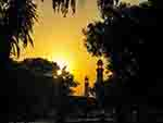 Pakistani mosque at sunset