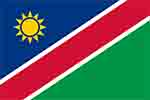 Namibia flag courtesy of Wikipedia
