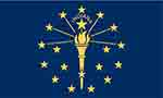 Indiania state flag courtesy of FlagPictures.org