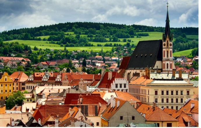 ČESKÝ KRUMLOV -CZECH REPUBLIC lugares mais baratos para viver na Europa