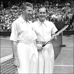 Don Budge and Gottfried von Cramm
