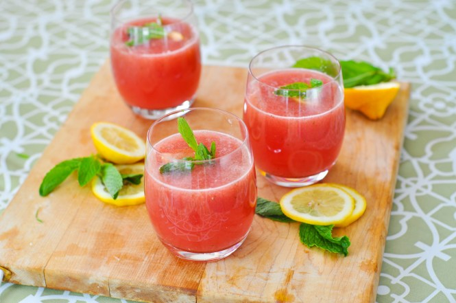 Watermelon-Mint Cooler - summer remedies with watermelon