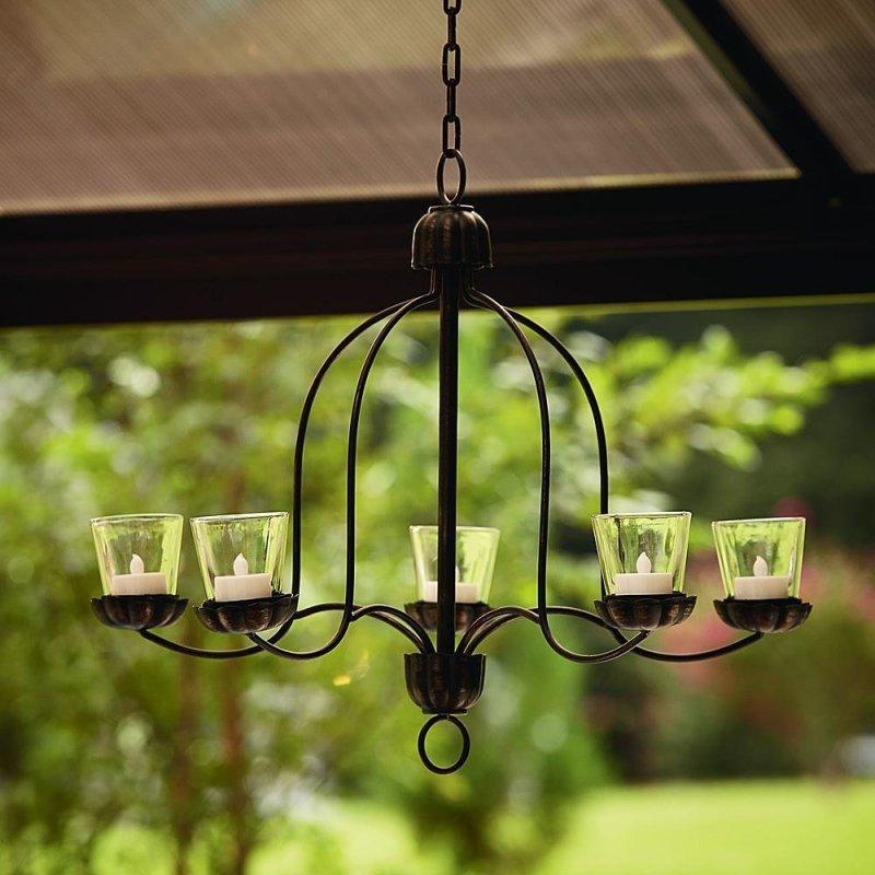 Votive Chandelier, DIY Backyard Ideas