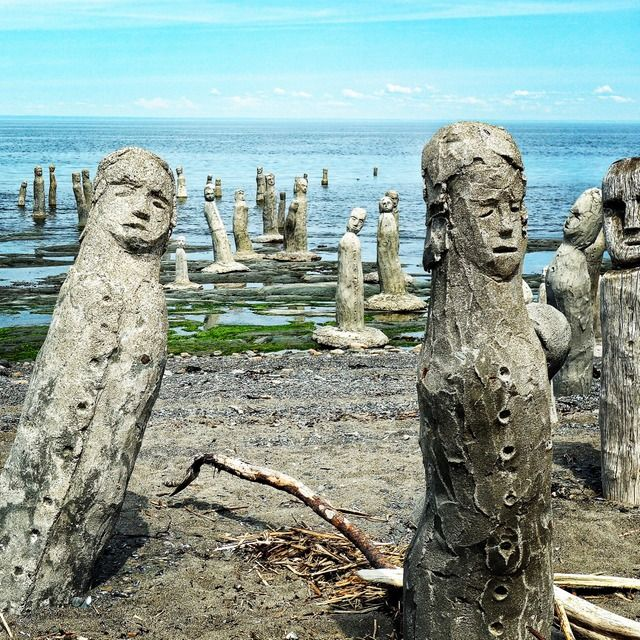 The Grand Gathering, St. Lawrence River, Sainte-Flavie, Quebec is one of the strange places in Canada