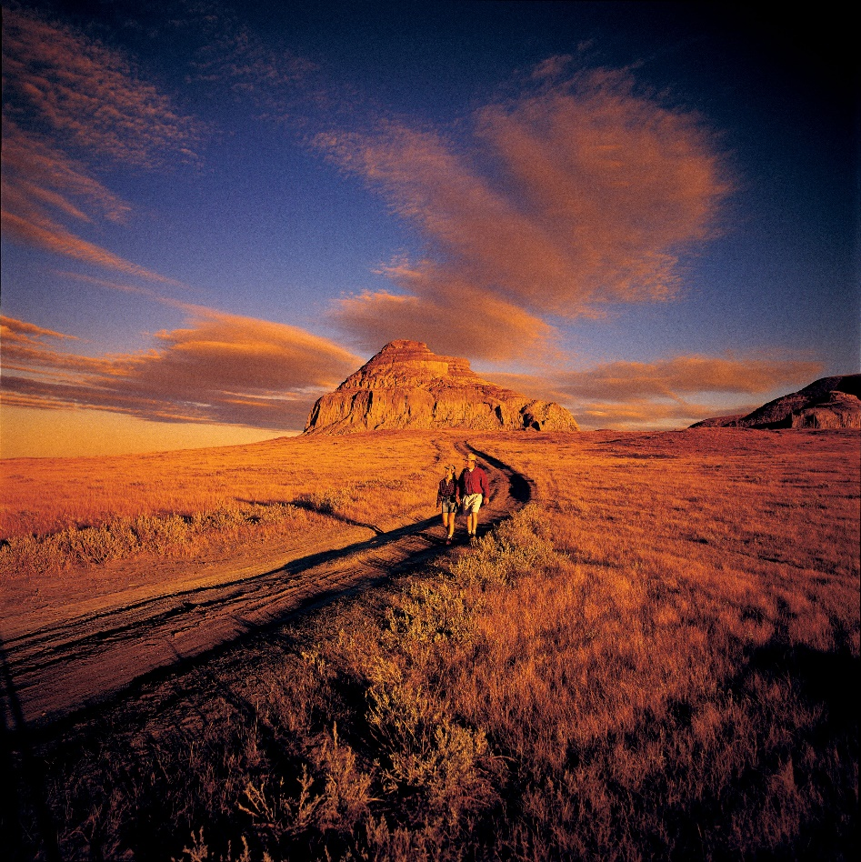 Castle Butte and Big Muddy Badlands, Coronach, Saskatchewan, Canada Holiday Destination