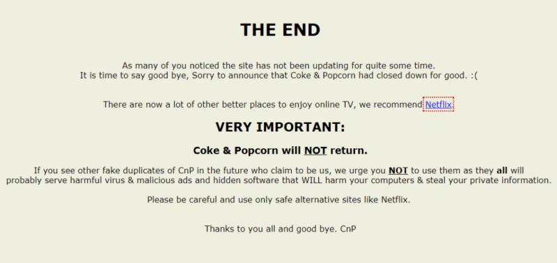 Alternatives of Coke and Popcorn websites